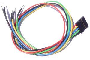 Cavo 5 poli flessibile 30cm M/F per Arduino