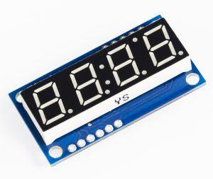 4-Digit Serial LED Display - RED digit