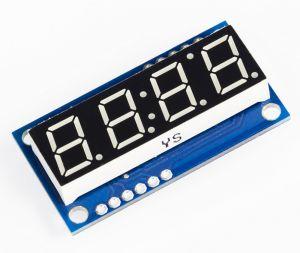 4-Digit Serial LED Display - GREEN digit